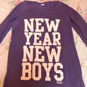 "Victoria's Secret PINK ""New Year New Boys"" Shirt"